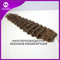 Harmony remy deep wave human hair hair extensions for weaving