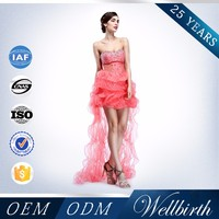 Factory Branded A Class Beads Bling Bling Pink Prom Dresses Prom Dress