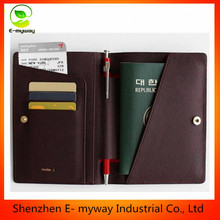 Unisex passport holder cover for travel travel document holder travel bag cover