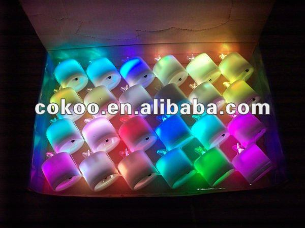 2012 Express Colorful Plastic Led Candle
