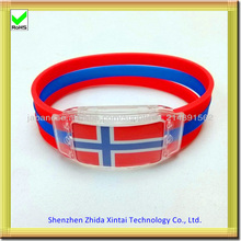 silicone led light up wristband bracelets