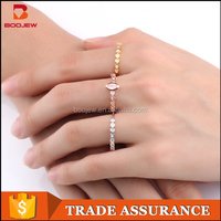 Alibaba website newest arrival stacking rings fashion jewelry three colors plating women mini finger ring