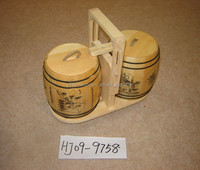 Wooden Material and storage decorative mini wooden barrels