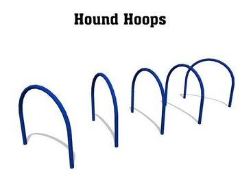 dog agility Equipment: Hound Hoops