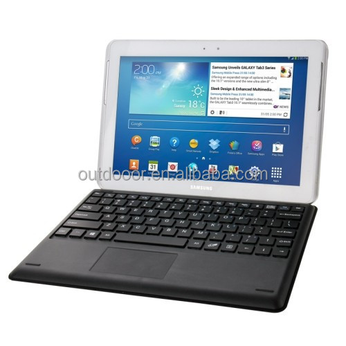 Universal Bluetooth Keyboard Litchi Texture Leather Case with Holder for 10.1 inch Tablet PC