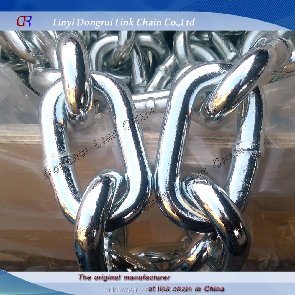Din766 H.D.<strong>G</strong>. or electro galvanized link chain