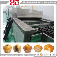 fully automatic production line cupcake maker