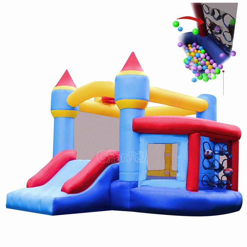 New Design Nylon inflatable castle indoor inflatable air bouncer trampoline