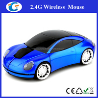USB 2.4G 1000dpi 3D Wireless Optical Blue Car Mouse Mice PC