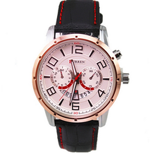 New product leather strap curren watch men