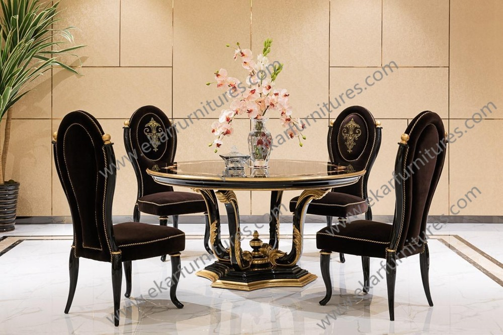 Style Dining Room Table Round Pedestal French Furniture Dining Table