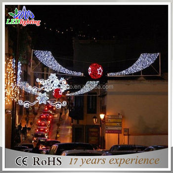110V-220V Voltage and Christmas Holiday Name LED Street Motif Light With Ball