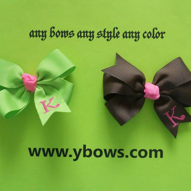Hair Bows With Initials