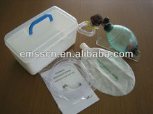 Silicone resuscitator for adult with oxygen tybe