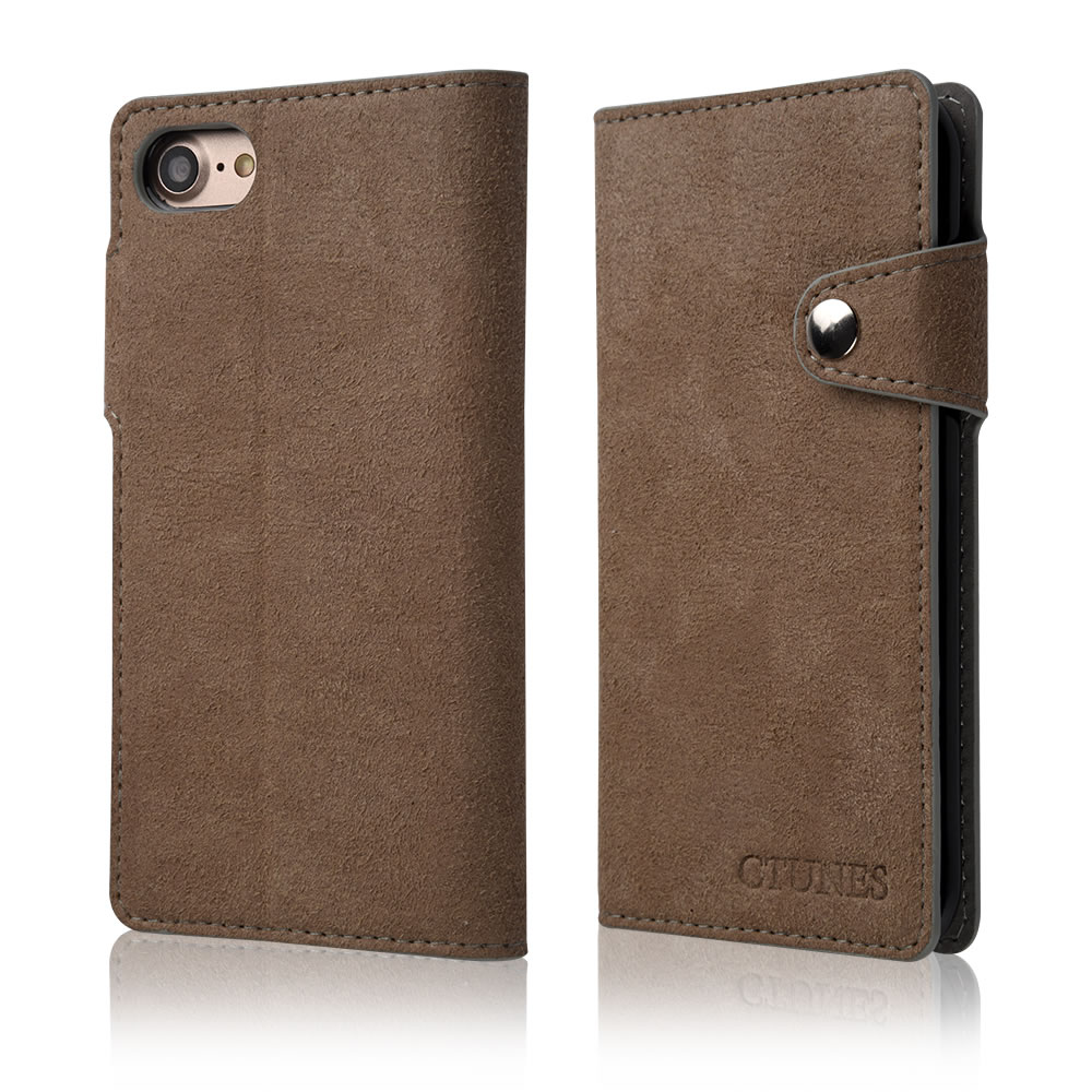C&T Brown PU Leather and TPU Material with Card Holder Protective Phone Flip Case Cover for iPhone 7