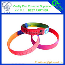 2015 wholesale fine custom silicone wristband