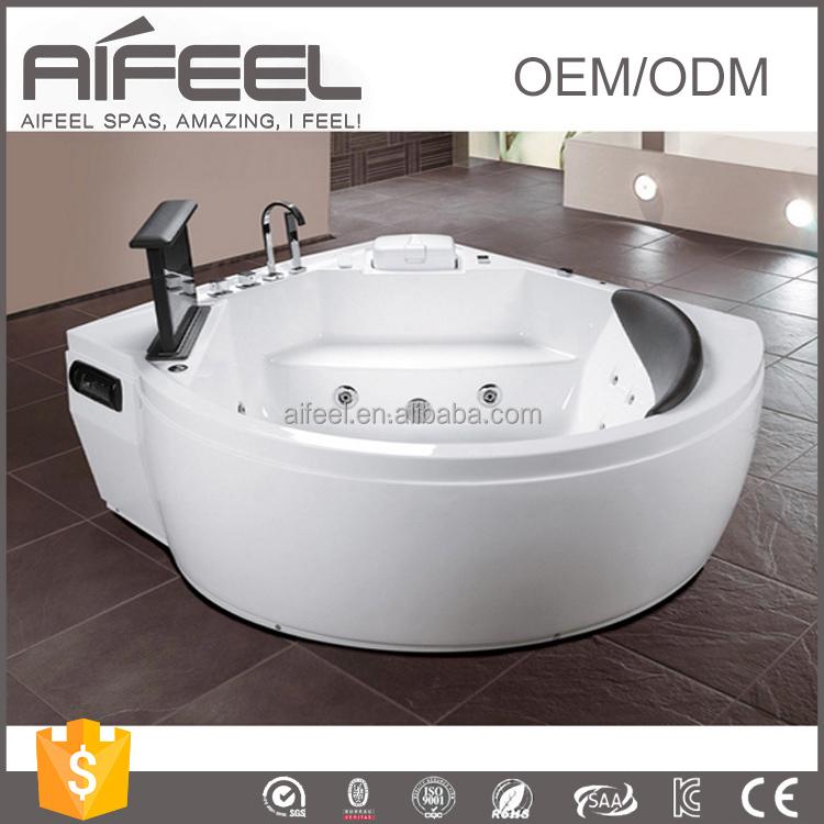 Freestanding acrylic one person massage whirlpool bathtub for Best acrylic bathtub to buy