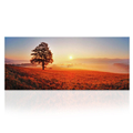 Wall Art Landscape Canvas Prints Sunset Scenery Canvas Print Big Tree Painting for Living Room Large Size 20inchx48inch