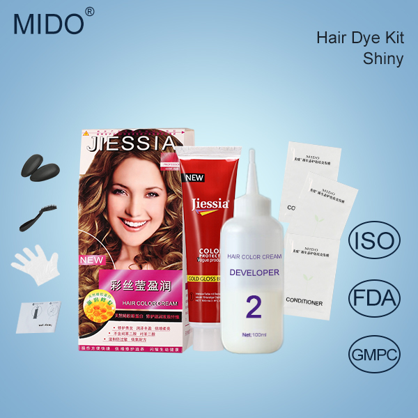 China Hair Dye OEM/ODM Factory Private Label Family Use Halal Ammonia Free Hair Color Dye Kit With Free Hair Dye Samples