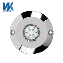 WEIKEN CE Approved China manufacturer marine parts 12v dc led marine lights boat 60W led underwater lamp led underwater lighting
