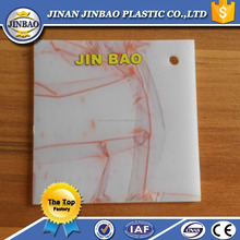 Jinbao decorative pattern plastic opal frosted pmma sheet fire resistant plexiglass sheet 6mm