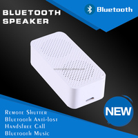 USB recharging mini stereo portable wireless bluetooth speaker with anti lost, shutter selfie and handsfree call function
