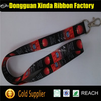 Wholesale cheap polyester customized printed retractable lanyard