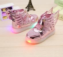 Hotsales dancing shoes dance sneakers Led light running shoes Girls Baby sneaker with wing Princess Cute Shoes