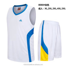 High quality custom plain cheap wholesale basketball uniform jersey set