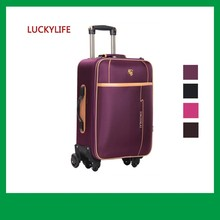 beauty fancy not disposable travel luggage with hard wheels