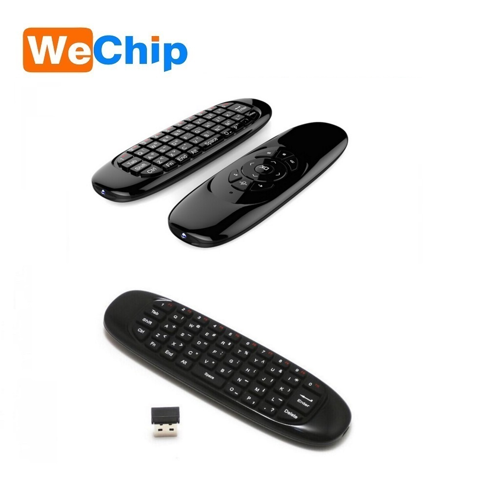 2017 TV remote for smart tv box C120 double sided wireless keyboard air fly mouse