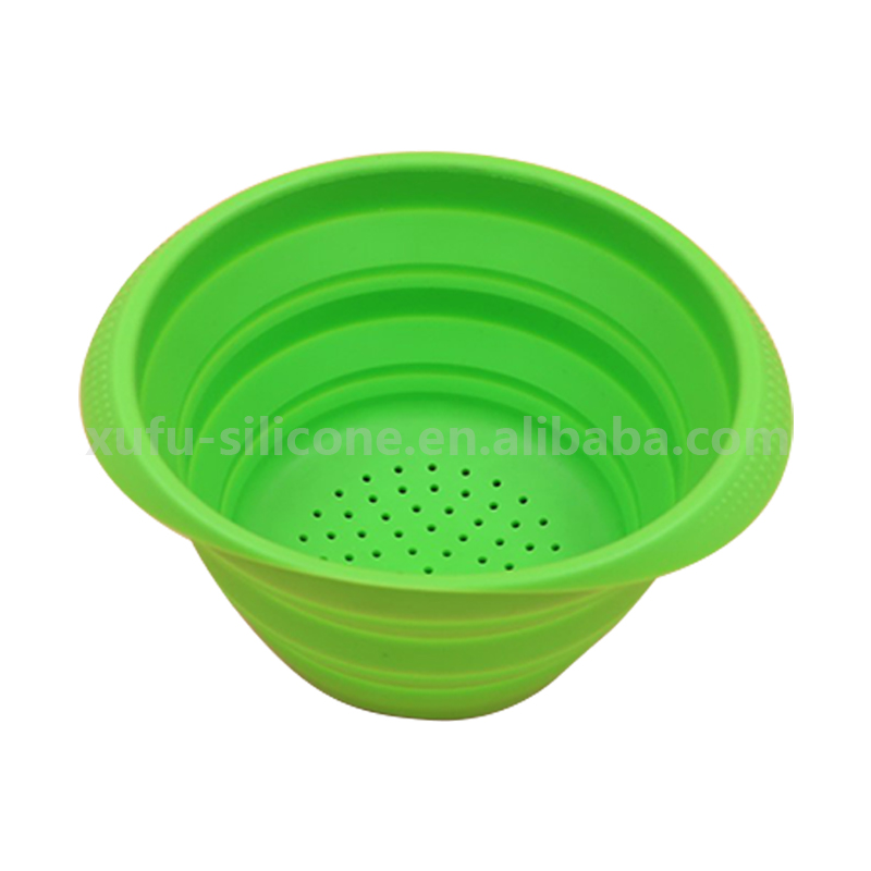 Durable and Never break bowl, silicone drainer basket for fruit vegetable