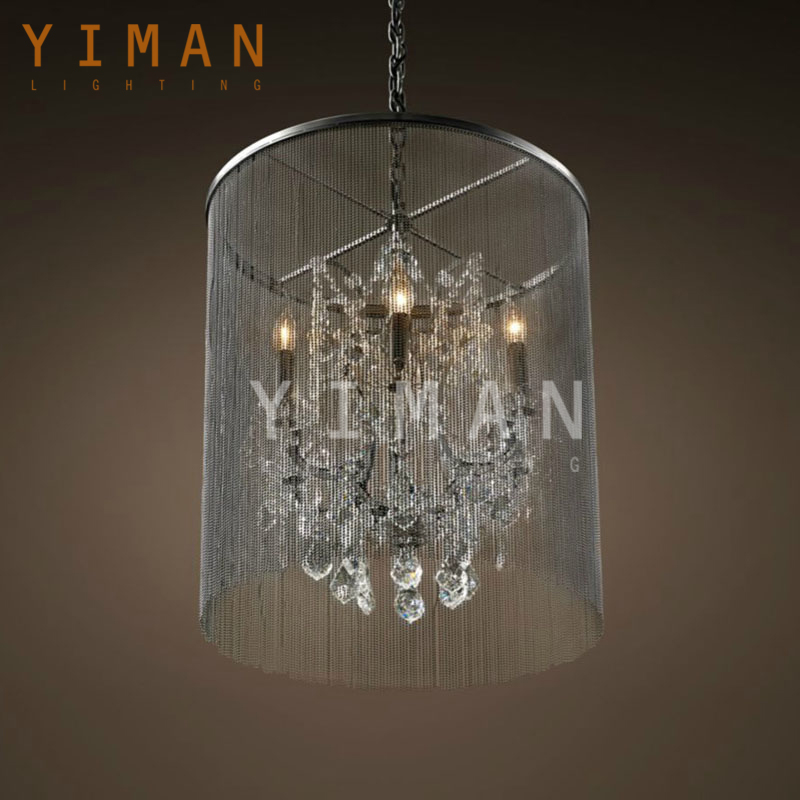 chinese style birdcage modern led crystal chandelier YM3005-D-TTWKT