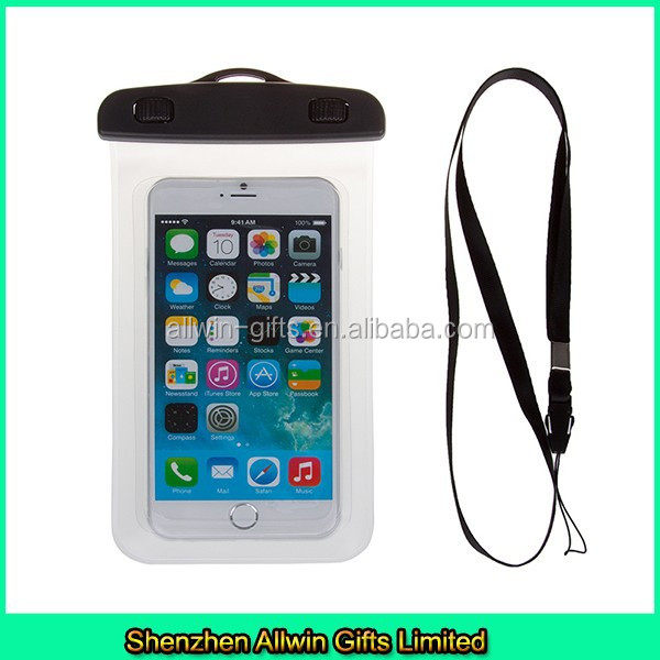 Waterproof underwater dry bag clear cell phone neck pouch