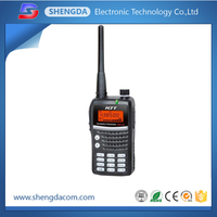 VHF UHF dual band portable walkie talkie/two way handy radio with long range 20km