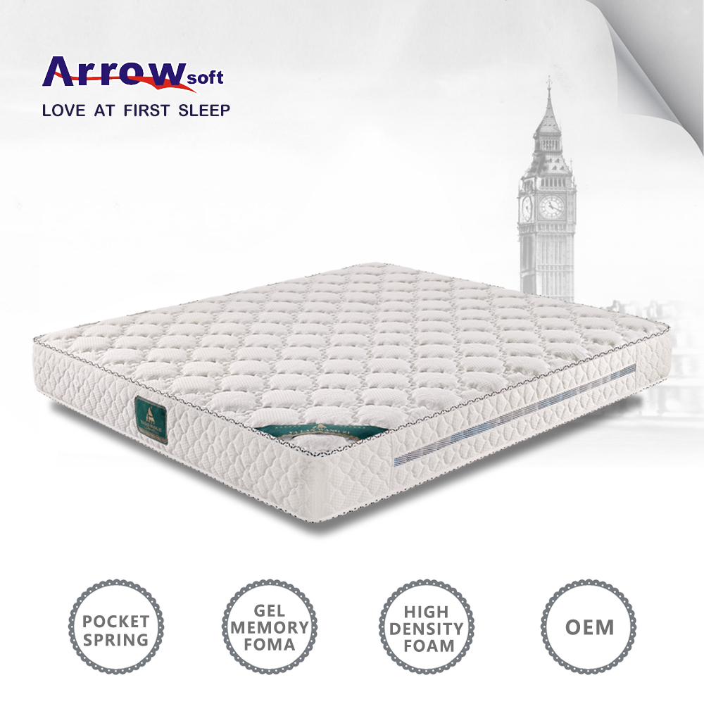 Alibaba wholesale royal comfort visco gel memory foam mattress in foshan