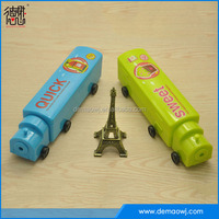 China factory wholesale Train shape hard plastic pencil case with wheels two layer S023