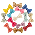 Metallic Color 2.8inch Faux Leather Hair Bows, Baby Girl's Kid's leather Bows