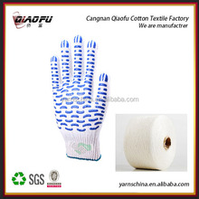 open end/oeregenerated color cotton yarn for glove 10s
