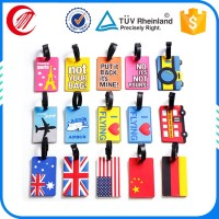 High quality design soft pvc custom shape pvc tags for travel bag