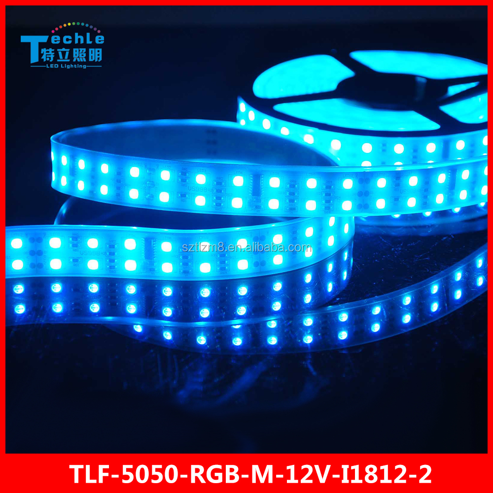 Dual Row 120 led/m Magic LED STRIP 5050 RGB lighting Programmable 1812 IC DC12V Waterproof Silicon Tube wholesales price
