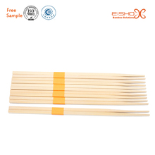 Chinese Restaurant Disposable Bamboo Sqaure chopsticks with paper wrap