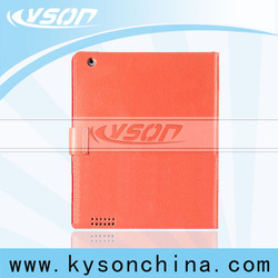 Sublimation case for ipad 2,lychee grain genuine leather wholesale case for ipad4