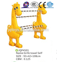 JQP4504 hotsale School furniture kids plastic elephant towel shelf kindergarten furniture