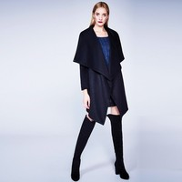 Fashion casual woolen coat,ladies western woolen coat,woolen coat for girl