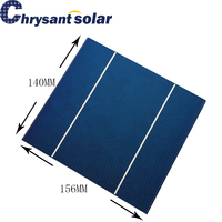 FOR INDIA Customized 18% High Efficiency 156*140mm Polycrystalline Silicon Photovoltaic Solar Cells