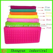 cheap candy waterproof silicone zipper women hand bags for chirstmas