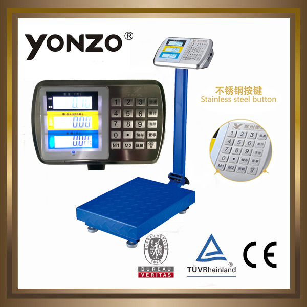 YZ-909 100kg to 500kg electronic digital platform weighing scale industrial metal detector in dubai