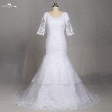 LZ177 Half Sleeve Vintage Lace Wedding Dresses Simple Bride Wedding Dress Vestido De Noiva