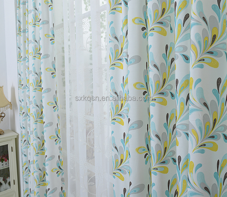 Good supplier kitchen curtains colored panels sheer curtain